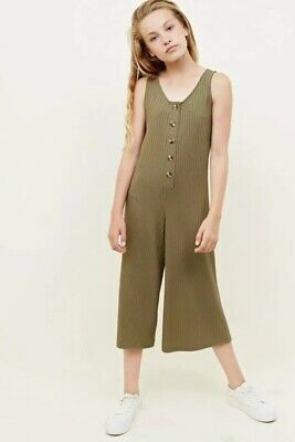 New Look - 915 Girls Khaki Button Front Jumpsuit - Age 10-11 Years - BNWT