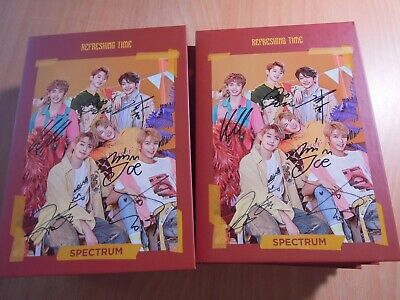 SPECTRUM - REFRESHING TIME (3rd Single Promo) with Autographed (Signed) 0.99 5pc