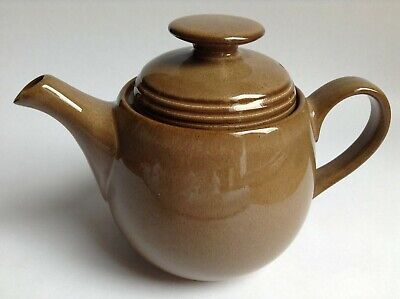 Denby Teapot 4 Cup Greystone Lidded Brown Grey Stoneware 1980s - 90s England