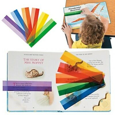 4 x Plastic Highlight Reading Strips:  Student Resource