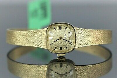 "$8435 Vintage Estate Rolex 14K Yellow Gold Ladies 6.5"" Hand Winding Wrist Watch"