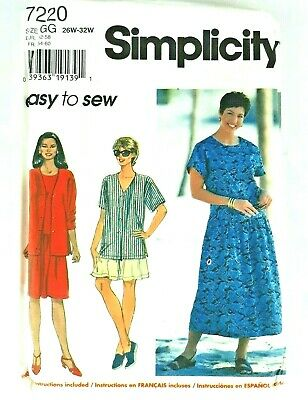 UNCUT EASY SEWING Pattern Pullover Blouse Top Simplicity 9587 6-14
