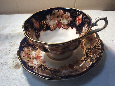 "Royal Albert HEIRLOOM (BONE CHINA) Footed Coffee/Tea Cup (2 3/8"" High) & Saucer"