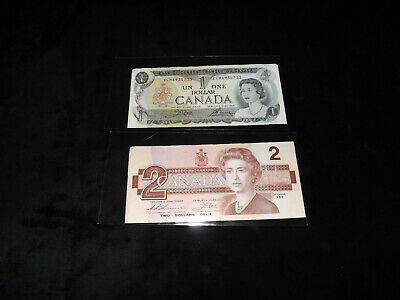 Bank Of Canada Lot - 1986 $2.00 & 1973 $1.00 Notes =--=-=-