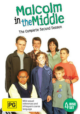 Malcolm in the Middle - Complete Season 2 NEW PAL Cult 4-DVD Set Frankie Muniz