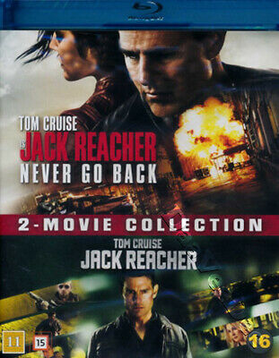 Jack Reacher / Jack Reacher: Never Go Back NEW Blu-Ray 2-Disc Set Tom Cruise