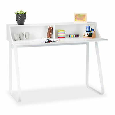White Writing Desk, Office Computer Table, Spacious 120x60 cm