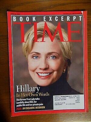 Time Magazine Collectible Hillary Clinton 2003 First Lady Historical photos