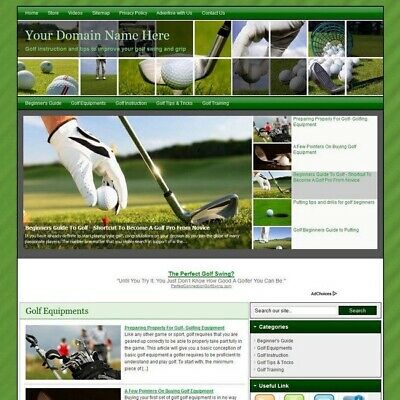 Golf Sport Blog Online Affiliate Business Website For Sale! Make Money At Home!