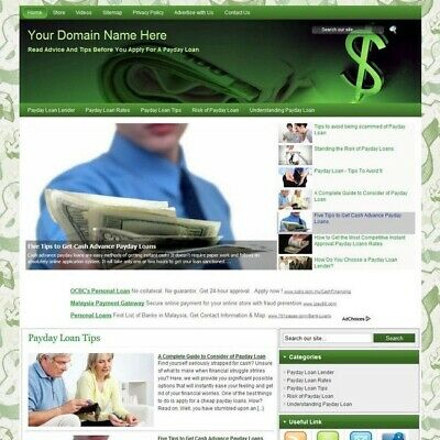 Payday Loan Tips Affiliate Product Business Website For Sale Make Money At Home!