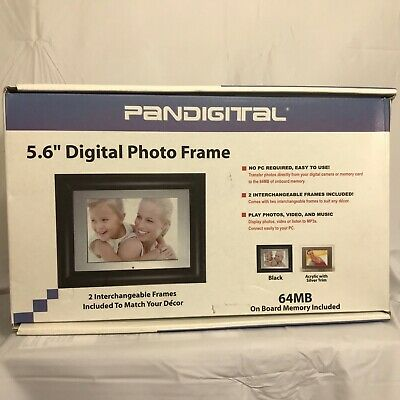 "Pandigital 5.6"" Digital Photo Frame 64MB Memory 1 Black 1 Silver Digital Frame"