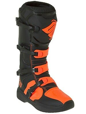 Néon de Motocross SHOT X11 BOTTES Motocross Orange Enduro 1FTJculK3