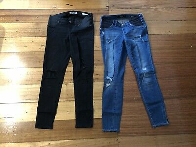 Jeanswest Distressed Under The Bump Maternity Jeans Size 8