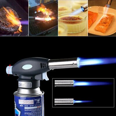 Blow Torch Butane Gas Flamethrower Burner Welding Auto Ignition Soldering UK