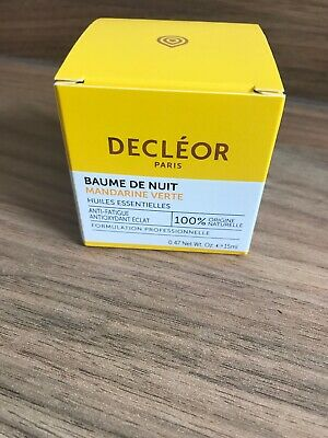 DECLEOR Green Mandarin Night Balm 15ml Essential Oils Anti Fatigue Vitamin Glow
