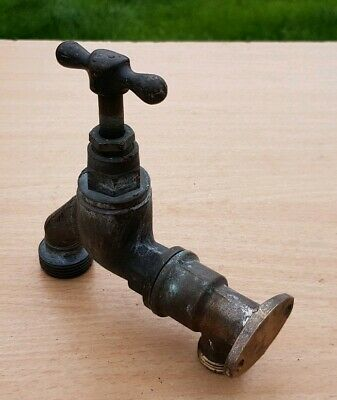 Vintage Bronze Brass Garden Kitchen Tap Stable Architectural Garden