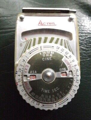 Acton Cine Meter Vintage Made In Japan In V,G.c.  I Will Post