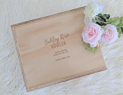 Wooden Keepsake Memory Box- Baby Shower, Birth Gift, Pregnancy, Wedding, Baptism