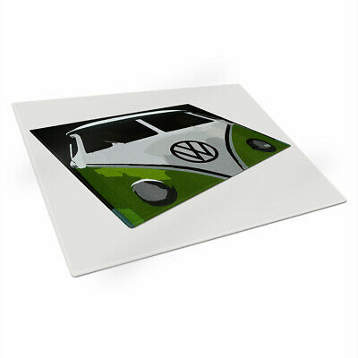 Personalised Chopping Board VW BEETLE Glass Kitchen Home Birthday Gift ST157