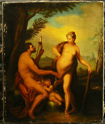 Hercules and Omphale Queen of Lydie Hercules Xvii / 18th Oil on Canvas