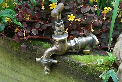 Old Brass Garden Tap Reclaimed & Fully Refurbished Old Brass Garden Tap