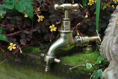 Brass Garden Tap Reclaimed & Fully Refurbished Old Brass Garden Tap