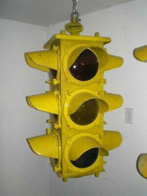 Crouse Hinds4 way Rare Flat Top Porthole Traffic Signal Light/ Complete