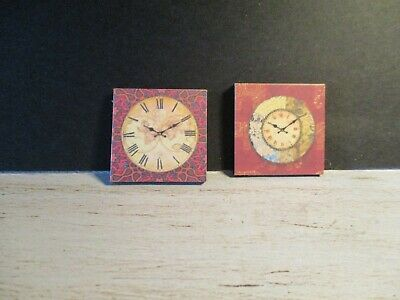 2 DOLLS HOUSE MINIATURE CLOCKS DNU3