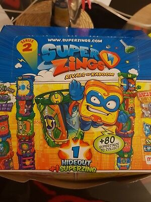 SUPER ZINGS RIVALS OF KABOOM SERIES- not full box only 17 pack HIDEOUT