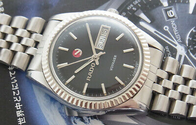 Vintage Rado Voyager Automatic Swiss Made Gent Size Watch...all Stainless Steel