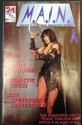 M.A.I.N. Main Audience Industry News 2A april-may 96 Xena Magneto Batman's 35th