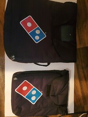 Domino's Large Pizza Delivery Large& small Insulated Black Bag Keeps Food Hot !!