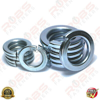 M5 M6 M8 M10 M12 M16 Spring Lock Washers Rectangular Square Coil Din 127B Zinc