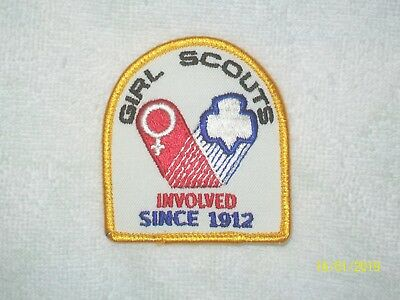 Girl Scouts Involved Since 1912 Embroidered Patch Applique - 1970's