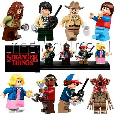 Lego 75810 Stranger Things The Upside complete minifigure set with display stand
