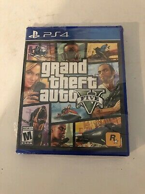 Grand Theft Auto V GTA 5 PlayStation 4 PS4 [Brand New Factory Sealed]