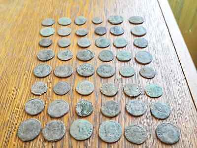 Beautiful Lot Of 48 Ancient Roman Bronze  Coins For Cleaning