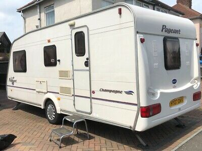 4 berth bailey pageant champagne touring caravan