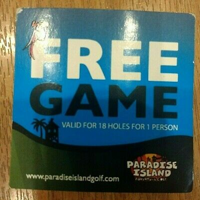 PARADISE ISLAND GOLF 18 Holes Coupon - Trafford Centre, Glasgow, Cheshire etc