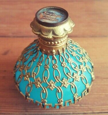 Antique French Opaline Glass Perfume/Scent Bottle | GRAND TOUR | 19th Century