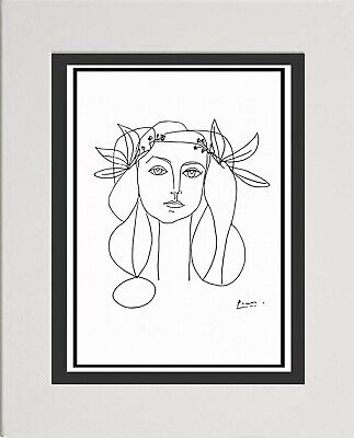 """Pablo Picasso Line Drawing """"Head Of A Woman"""""""