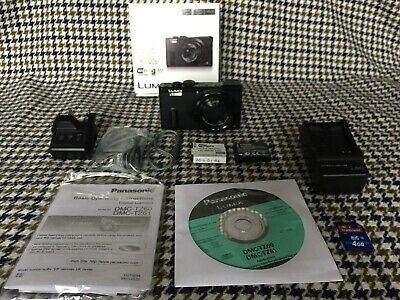 Boxed, wonderful condition Black Panasonic LUMIX DMC-TZ60 18.1MP Digital Camera