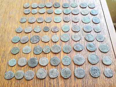 Beautiful Lot Of 72 Ancient Roman Bronze  Coins For Cleaning