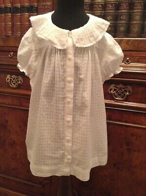 Ralph Lauren Girls' White Ruffle Collar Blouse Top Shirt - Age 6