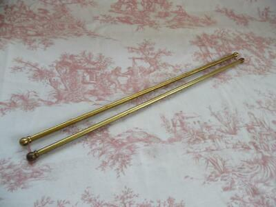 Pair Of Vintage French Cafe Net/Curtain/Tapestry Poles-Extending