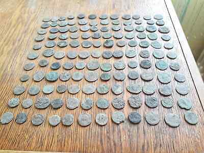 Lot Of 132 Ancient Roman Bronze  Coins For Cleaning