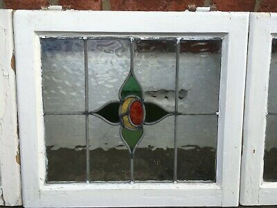 1930s leaded lightstained glass windows - set of 6