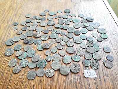 Lot Of 120 Ancient Roman Bronze  Coins Poor Quality For Cleaning