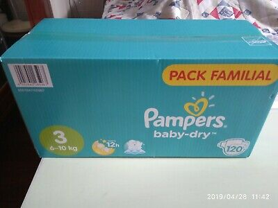 Lot De 120 Couches Pampers Baby Dry