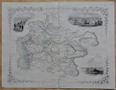 Original antique map 'Russia in Asia & independant Tartary' - John Tallis c1858